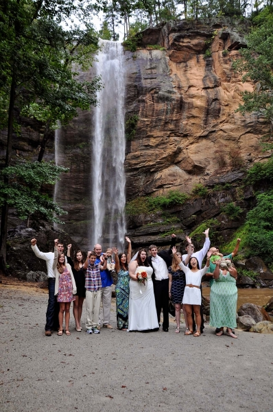 Toccoa Falls Waterfall Wedding Location