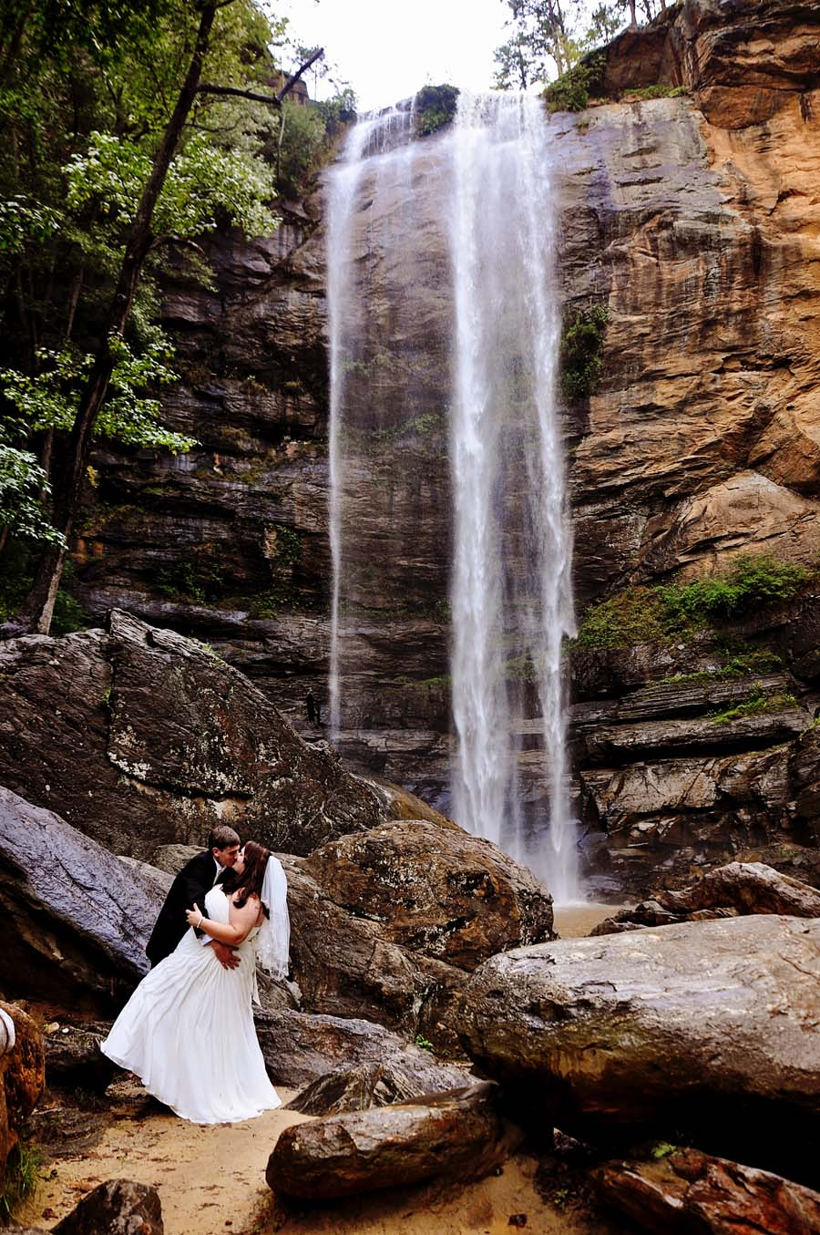 Toccoa Falls Private Waterfall Wedding Location